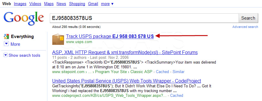 How To Get Usps Tracking Information Using Google