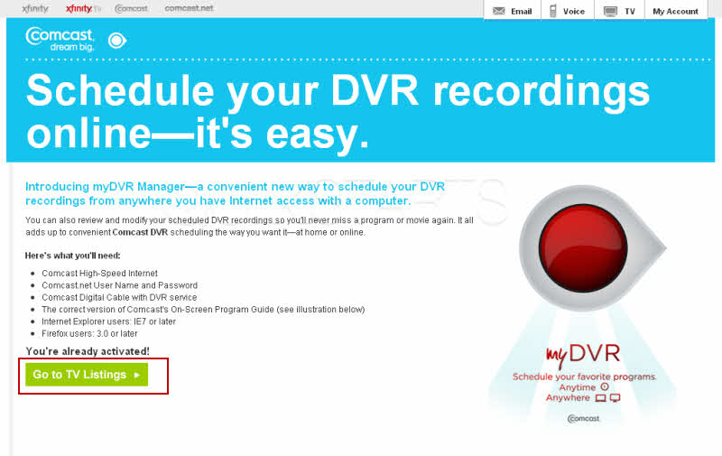 A Recording with myDVR Manager and the Program Did Not Record