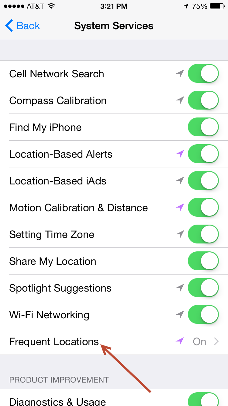 location services on iphone 6 7 17786